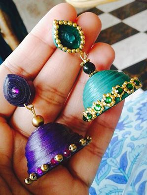 Paper Quilled Jhumkas