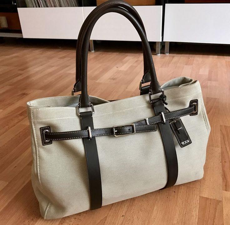 Tumi Ballistic Nylon Leather Trim Business Work Tote Bag $495  | eBay