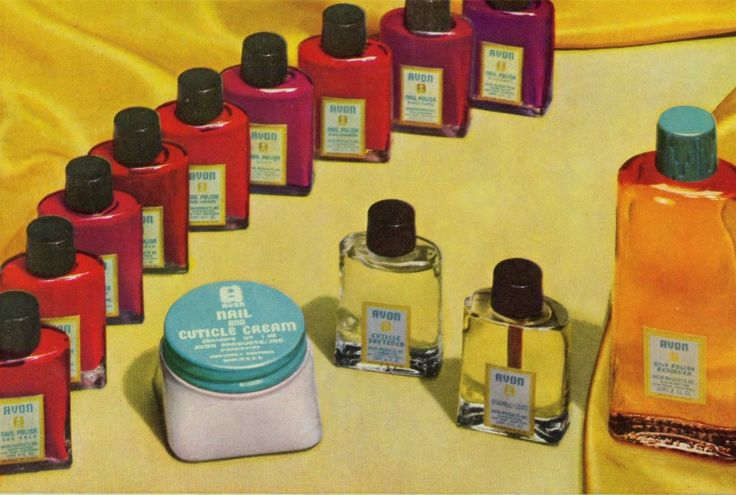 Take a virtual look at the development of Avon's evolving nail polish bottles through the years and the rainbow of shades they hold. Shop PJ's Avon Online for the Current Nail Selection at https://pjack.avonrepresentative.com/set?setlang=1&exm=RepLinks