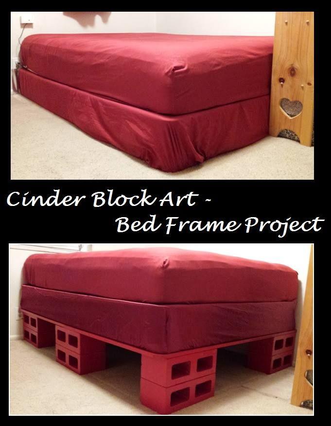 bed frame u0026 storage bedframe storage bed cinder block art cinder block furniture platformbed platform bed