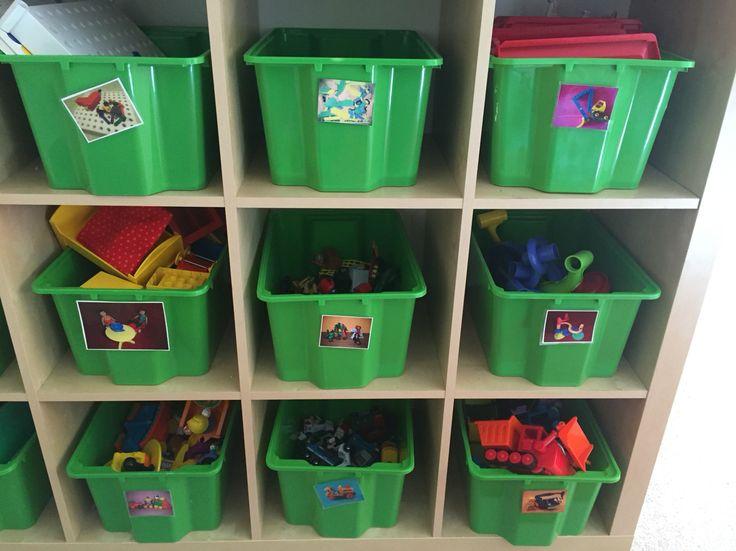 Vi använder oss av leklådor dels för att de ger tydlighet och struktur. De bygger på samma strategi, ta ner lådan plocka ur/leka, städa och ställ tillbaka. Strukturen ger en trygghet i att barnen vet vad som förväntas. Leklådorna bygger på barnens intressen och lekmaterial till lekar som kan hjälpa barnen att bearbeta och träna på vardagssituationer tex frisör, doktor, tandläkarlåda osv. De ger även ett lugnare synintryck för ögat  vilket minskar stress för många barn.