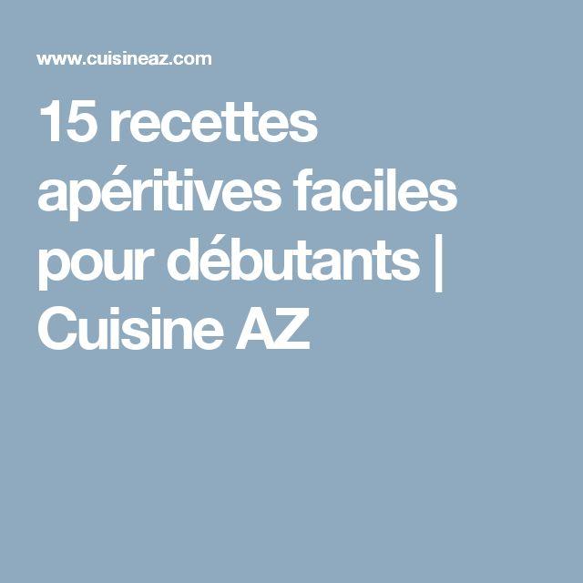 15 recettes apéritives faciles pour débutants | Cuisine AZ