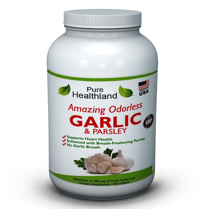 Odorless Garlic And Parsley Supplement High Potency Garlic