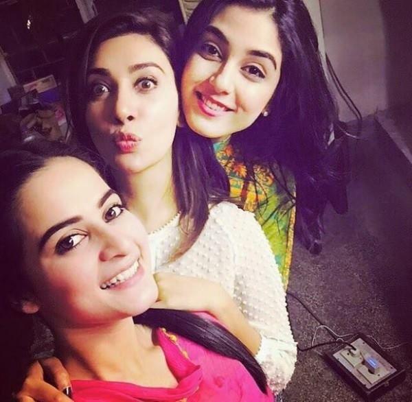 maya ali, ayesha khan and minal khan