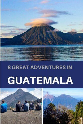 8 great adventures in Guatemala to experience ranging from exploring the Mayan ruins of Tikal, to kayaking on Lake Atitlan to climbing an active volcano! You'll find lots of bucket list worthy ideas to make your travel in Guatemala epic!