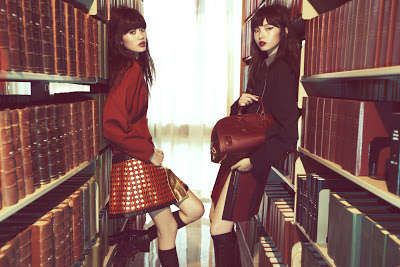 Rebel School Girl Editorials - The Vogue China Mod Girls Photoshoot is Defiant (GALLERY)