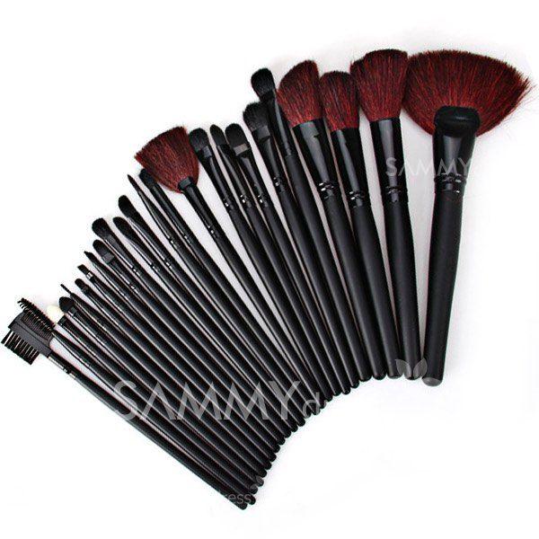 $11.52 High-end Black Velvet Brush Sets Soft Cosmetic Face Make-up Brush Powder Brush for Lady (24Pcs)