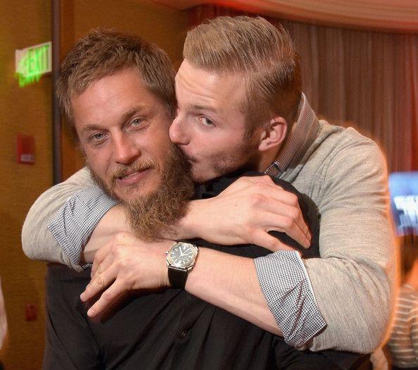 Travis Fimmel & Alexander Ludwig: JAN 2015 TCA History Vikings Party