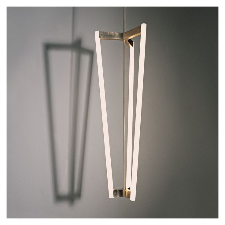 Michael Anastassiades Satin Brass Tube Chandelier - The Conran Shop