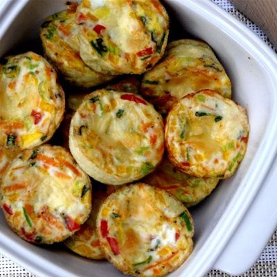 Easy Egg Muffins   A healthy breakfast or great on-the-go snack! I cut the egg whites to 8 eggs and added spinach and they came out great.