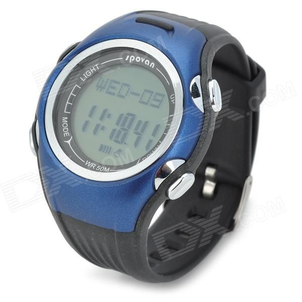 Time&Date function/2 group alarm function/Stop watch/Counting down function/Smart step-counting for 7 seconds/3 Pedometer mode display/User information setting/50 days pedometer information record/EL backlight/50M depth waterproof. http://j.mp/1lkqdau