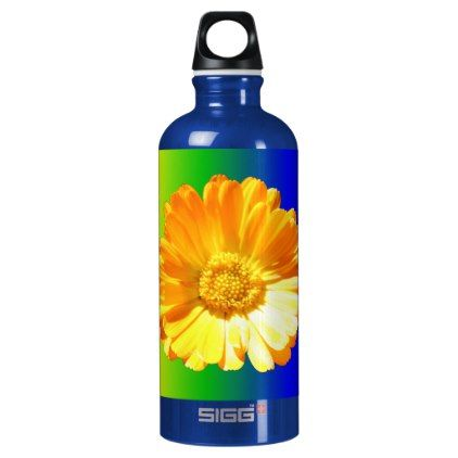 #Yellow Daisy Aluminum Water Bottle - #flower gifts floral flowers diy