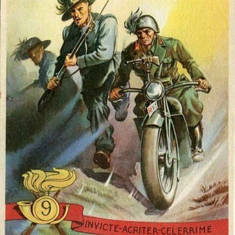 bersaglieri motocicletta motoguzzi