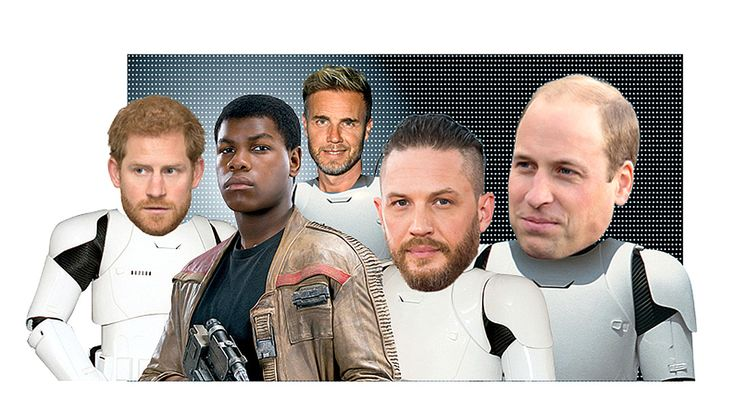 The royals — along with Tom Hardy and singer Gary Barlow — were rumored to make an appearance in Stormtrooper outfits in the film releasing Dec. 15.