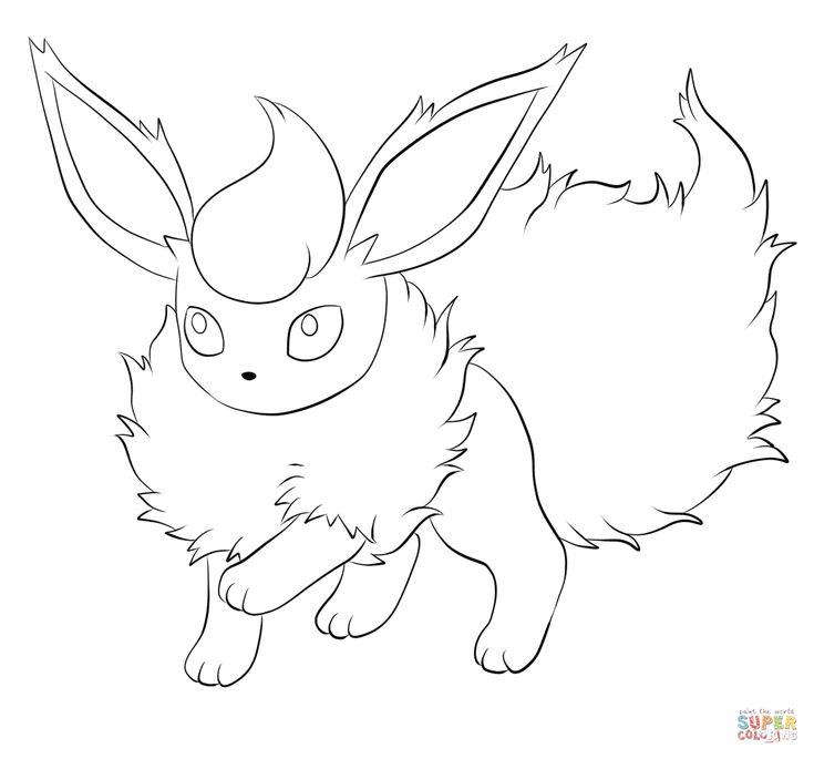 Flareon coloring pages google search colouring pages for Flareon coloring page