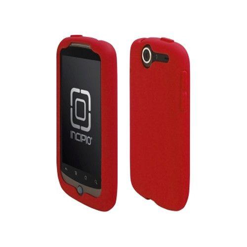 Incipio Technologies - Incipio dermaSHOT Silicone Case for HTC Google Nexus One - Deep Red