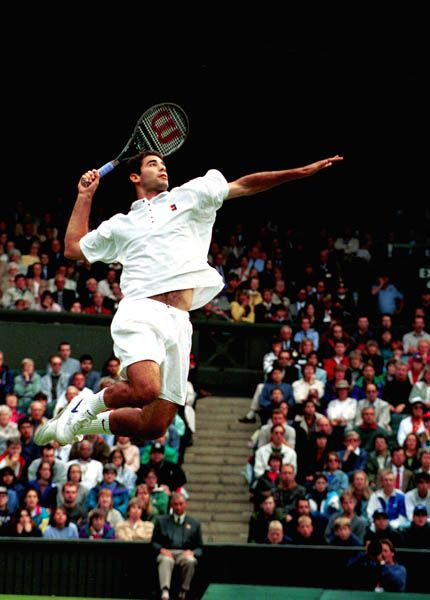 "Peter ""Pete"" Sampras ha vinto 7 volte Wimbledon, come Roger Federer e William Renshaw. Famoso per il suo gioco Serve & Volley."