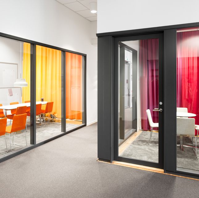 #pensionsmyndigheten #kontor #skofabriken #hornstull  #stockholm #mötesrum #inredning #design #orange #office #SwedishPensionsAgency #Interior #design