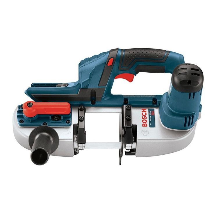 Bosch 18 Volt Lithium-Ion Cordless Electric Compact Portable Band Saw with 3 Blades (Tool-Only)