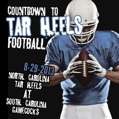 On 8-29-13 Carolina Tar Heels football begins with a game against the South Carolina Gamecocks! #carolina #tarheels #carolinablue #UNC #ChapelHill #ncaa #football