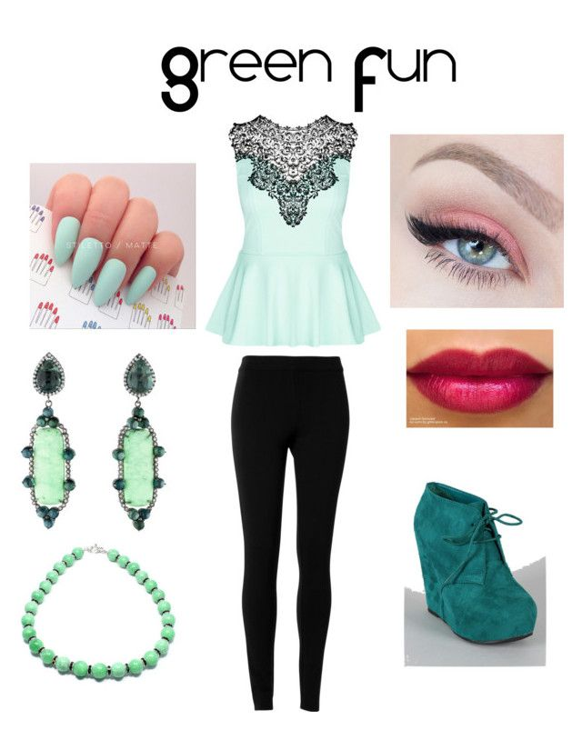 Green Fun by flowerpower2134 on Polyvore featuring polyvore, fashion, style, City Chic, Max Studio and Colette Jewelry