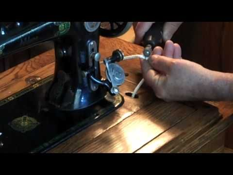 How to make a treadle sewing machine belt with nylon cord.