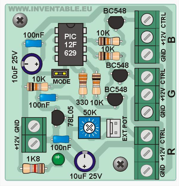 - Controlador RGB para leds de alta potencia