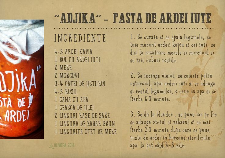 adjika - pasta de ardei iute cu mar si morcov
