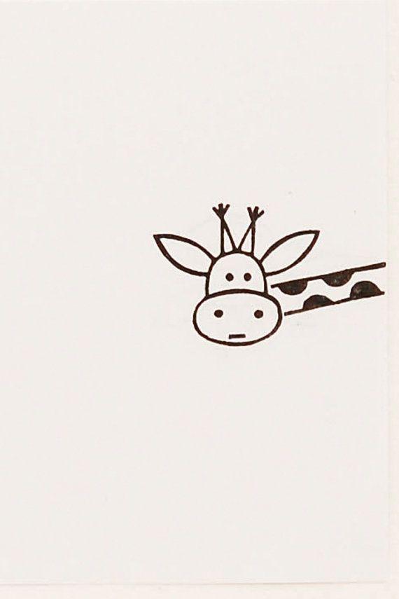 Funny Giraffe peek-a-boo stamp kids gift - Around the corner giraffe ...