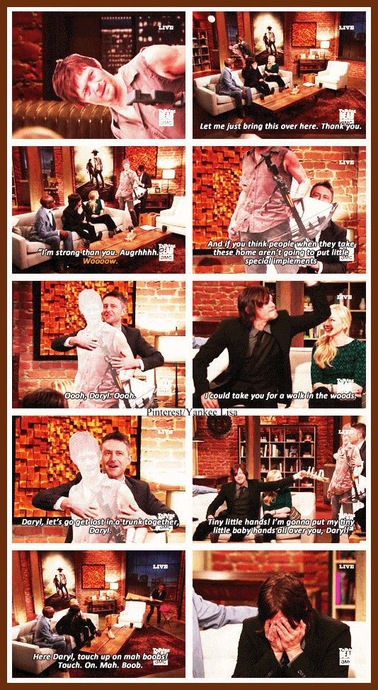 Norman Reedus - Daryl Dixon - AMC's The Walking Dead Cast - Talking Dead