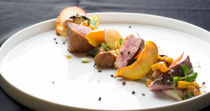 Oven-roasted duck fillet with glazed prunes and girolles en cocotte | Dolce world