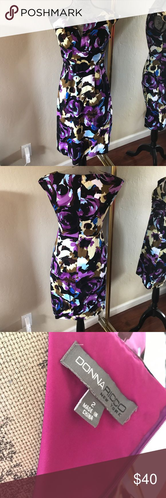 Donna Ricco dress Size 2 Donna Ricco dress Size 2. No flaws. Very pretty floral dress. Donna Ricco Dresses