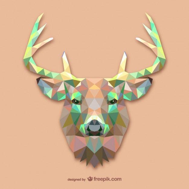 Triangle deer design