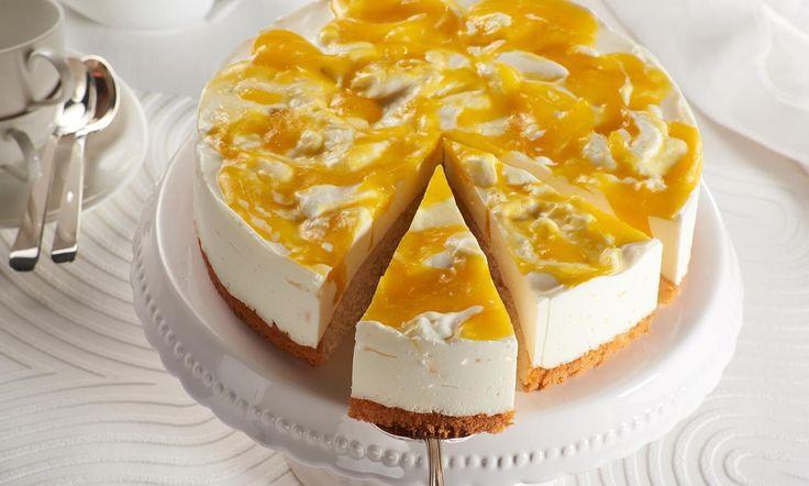Käse-Sahne-Mango-Torte Rezept | Dr. Oetker