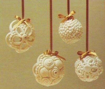 Agenda di Margherita: Decorare l'albero di Natale con palline di pasta al sale
