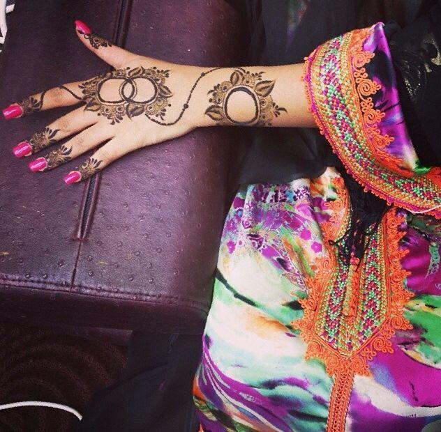 Unique arabic henna
