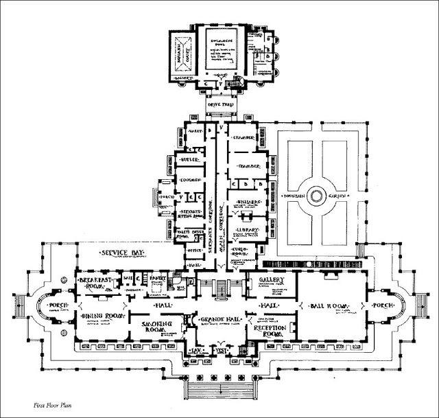 Floor Plans Images On Pinterest: Mansion Floor Plans: Lynnewood Hall, Philadelphia