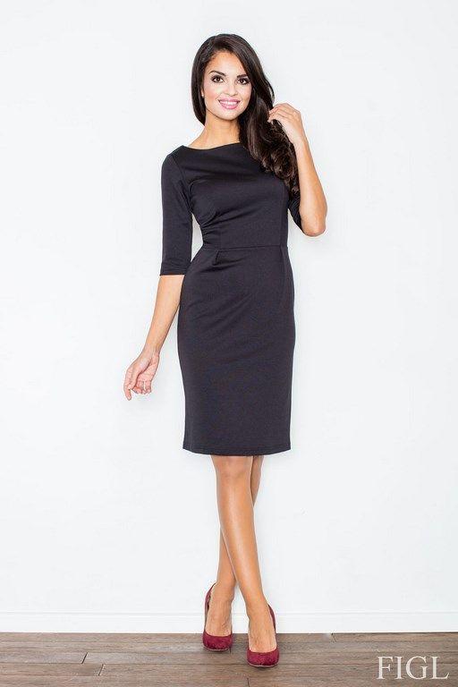 Czarna sukienka o ołówkowym fasonie