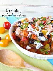 Greek Seafood Nachos - Call Me PMc