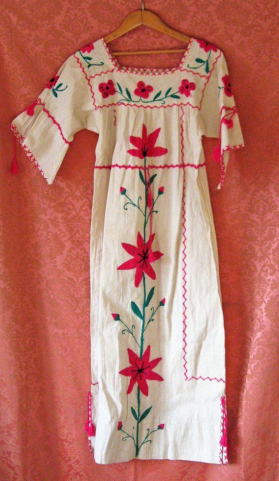 Nice Vintage Mexican Wedding Dress Tassles