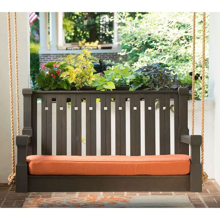 Nostalgic Craftsman Red Cedar Outdoor Sofa Swing Wooden