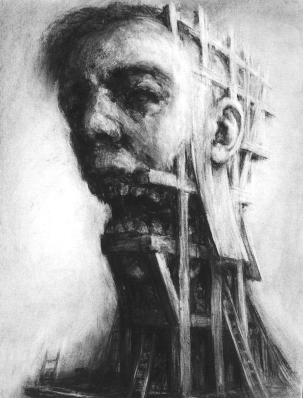 """Scaffolding Head"" by Paul Rumsey"