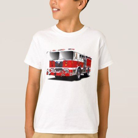 Fire Engine images for kids t-shirt - tap, personalize, buy right now!