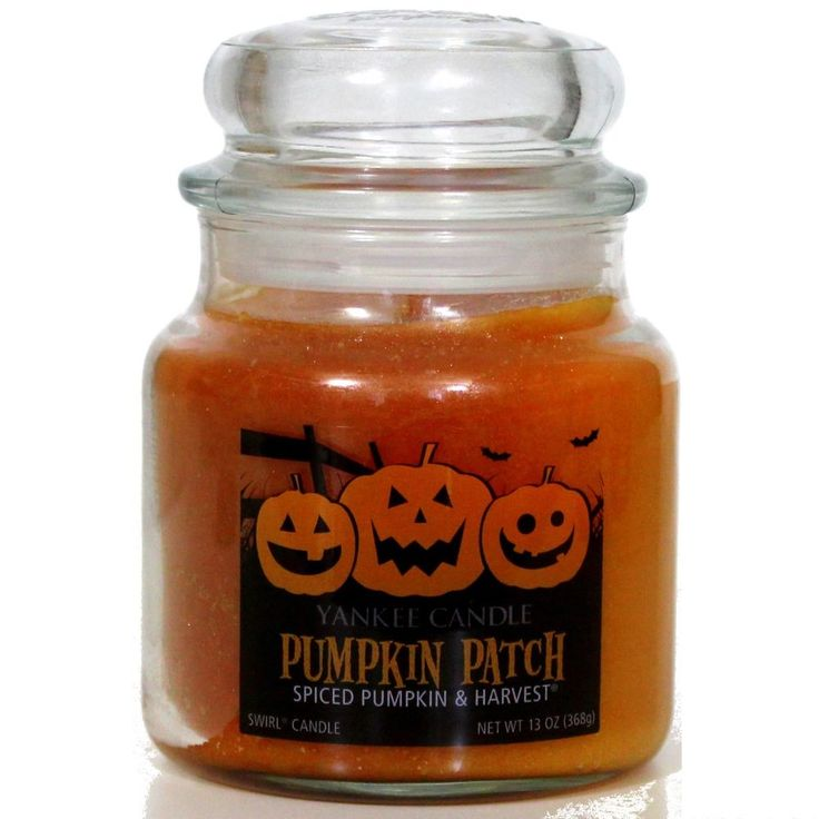 Yankee Candle Pumpkin Patch Halloween Swirl Candle Jar Spiced Pumpkin & Harvest #YankeeCandle