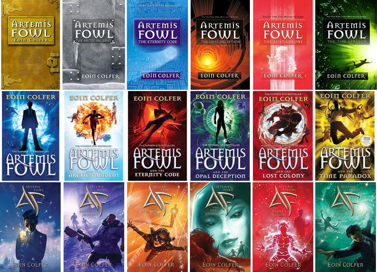 "Artemis Fowl series - Eoin (pronounced Owen) Colfer author of the Artemis Fowl series. Even though the series is written for young readers - as an adult - I thoroughly enjoyed every word! Good, clean, exciting and fascinating! I couldn't get enough of it and am anxious for the next...hopefully, there will be ""a next""!"