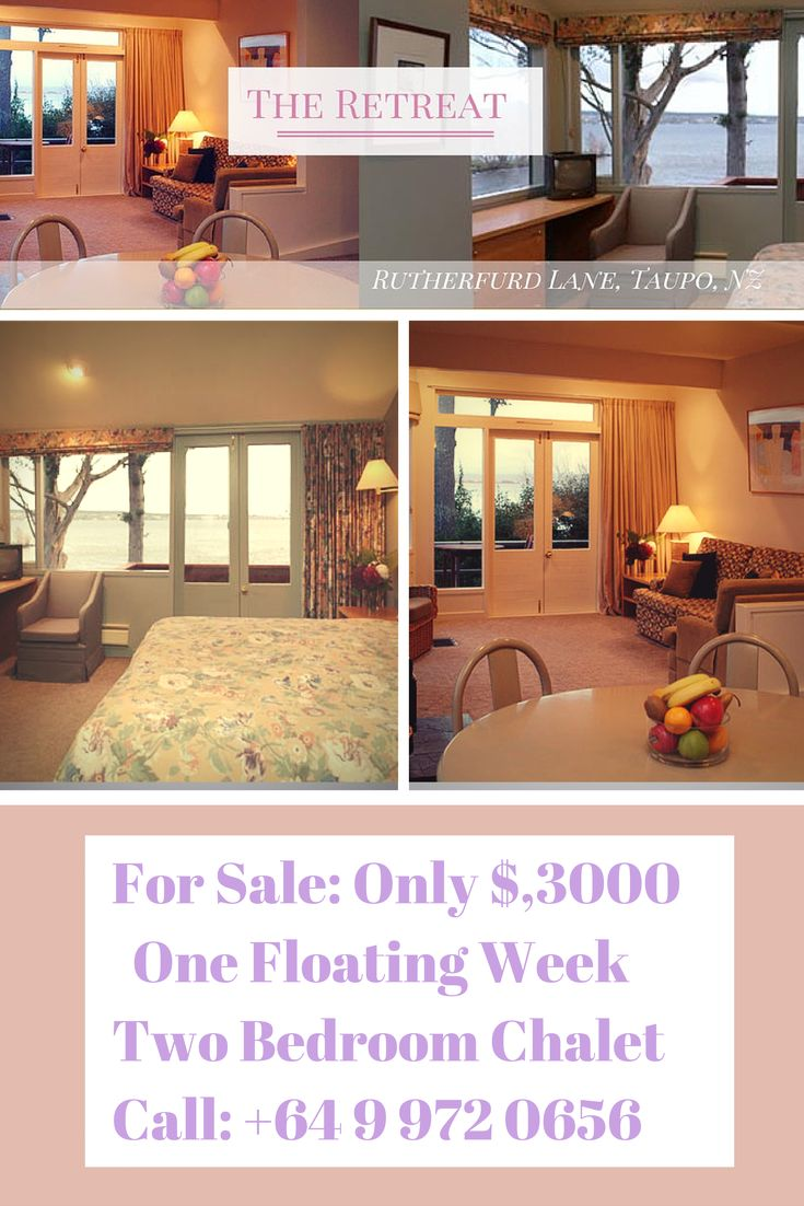 Week for sale at the Retreat resort, Taupo $3000 only. 2 Bedroom 2 Bathroom sort after resort week. Contact the timeshare market for more details. 09-972-0656