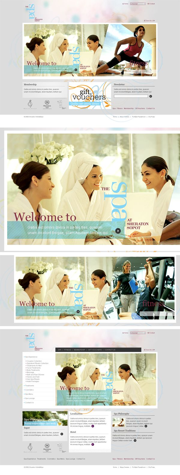 When a man is being asked to design something, mostly used by women - that is always a challenge.  The same situation was that time. Spa for Sheraton ;) #sheraton #spa #webdesign #project #lodowski