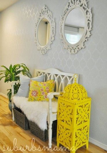 60 best Stenciled walls images on Pinterest | Wall stenciling ...