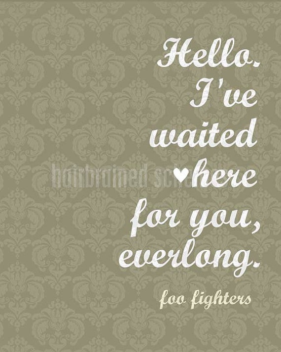 <3 (and hopefully one day finally, I'll be able to tag my sister on this one - she LOVES Foos)