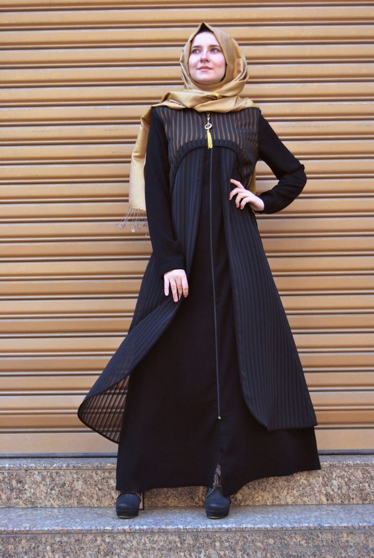 Banu Begüm  Black Yellow Dress  245 Tl or 85 Dolars Information and order whatsapp 05533302701  #modaufku #tesettür #hijab #hijaber #islamic #islam #team#abaya #hijabfashion